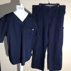 Carhartt Navy Blue Medical Scrubs (unisex)